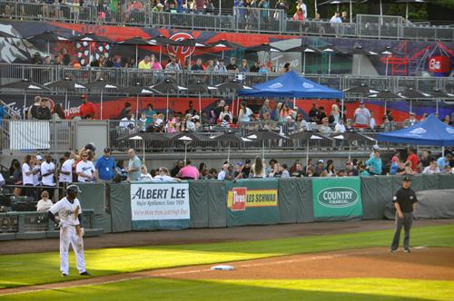 Left Field Party Decks in Cheney Stadium
