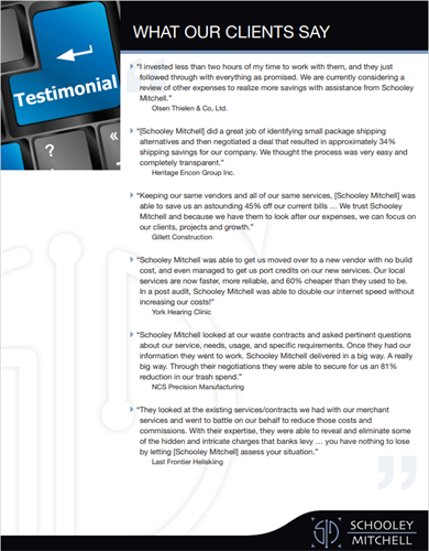 Customer Reviews - what our Clients say