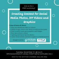 Creating Content for Social Media Photos, DIY Video and Graphics