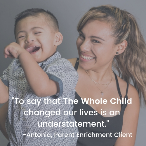 The Whole Child's Parent Enrichment program supports parents with bonding, lactation, developmental screenings and linkage to other resources