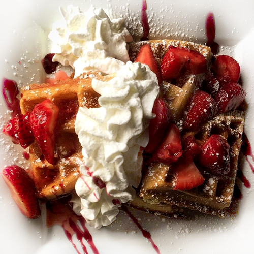 Strawberries & Cream Waffles