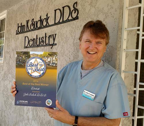 John K Sudick, DDS Chosen by Whittier as Best of the Best Dentist 2years running.