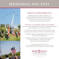 Virtual Remembrance Memorial Day