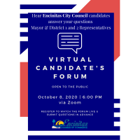 2020 Virtual Candidate's Forum hosted by the Encinitas Chamber of Commerce