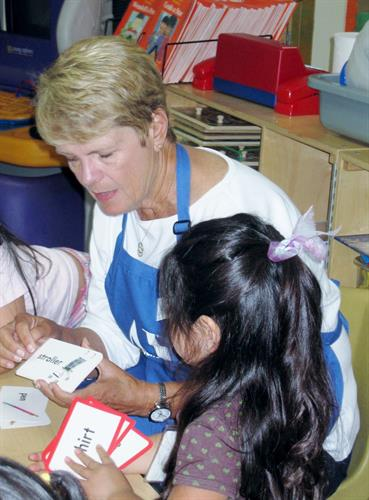 Tutoring pre-school children.