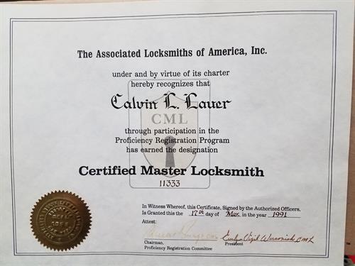 Owner Certification