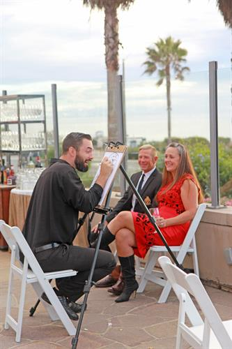 Caricatures at Celebration of Second Chances