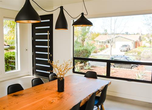 Motorized Roller Shade in Encinitas Raised Position