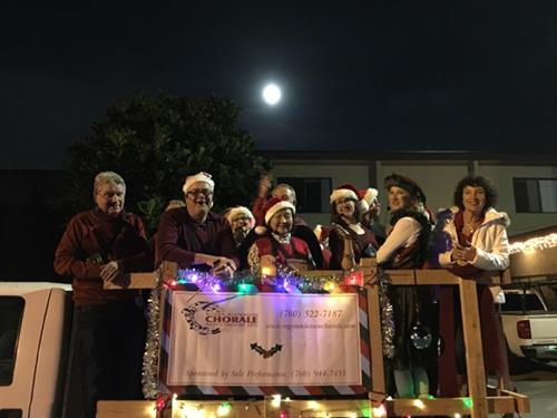 The Chorale at the Encinitas Holiday Parade December 2017