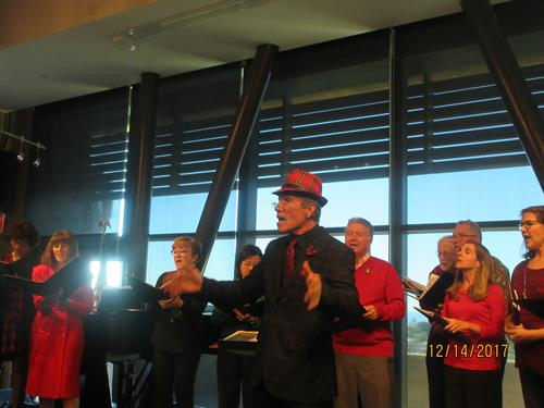 The Chorale at Encinitas Library Wednesdays at noon concert. December 2017