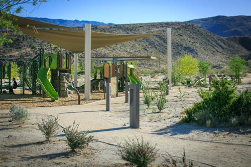 Borrego Springs Park - Nature-Play for kids with educational signage and full accessibility.
