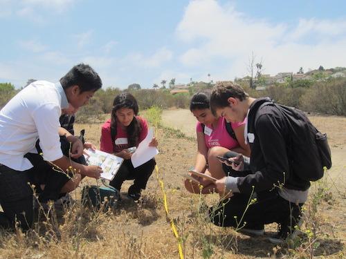 High Schoolers in a Conservancy Field Trip