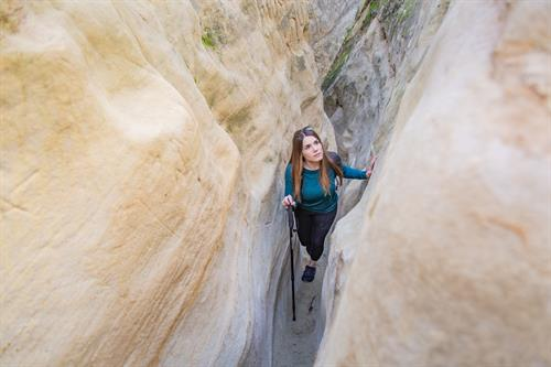 Explore the slot canyons at Annie's Canyon Trail