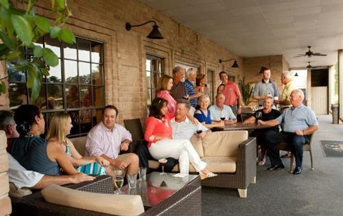 Members enjoying an evening at the Pub!