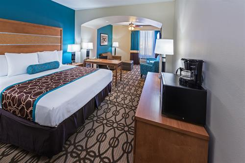 Suite with One King Size Bed and Sleeper Sofa