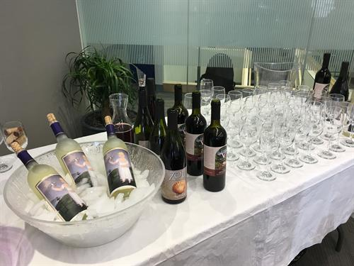 A tasting of local wines