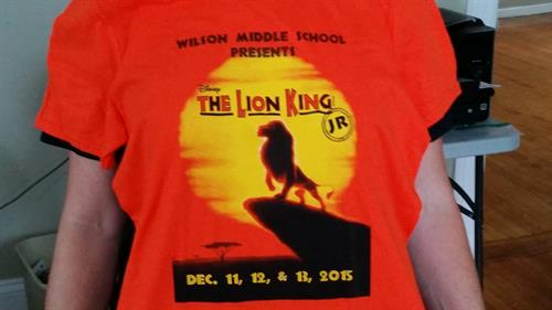 Wilson Middle School 2015 production of The Lion King Junior.