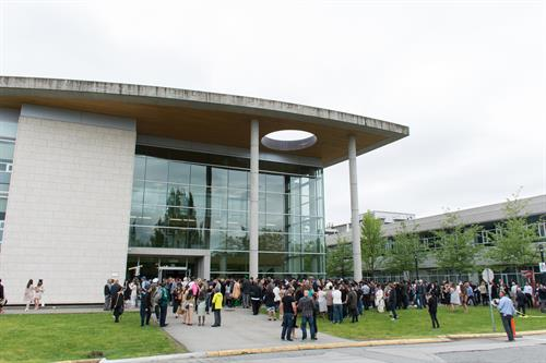 Convocation ceremonies on KPU Surrey campus