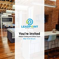 LeadPoint Digital Ribbon Cutting and Office Tours