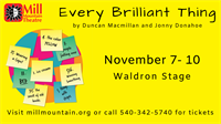Every Brilliant Thing at Mill Mountain Theatre