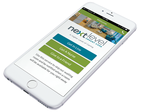 Get in line, ONLINE! Download the Next Level Urgent Care App!
