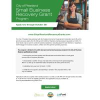 City of Pearland Launches Small Business Recovery Grant Program