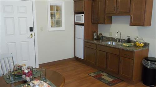 Kitchen in our 1 bedroom apartment