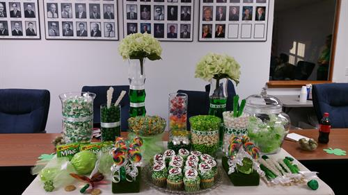 St. Patricks Day Themed Candy/Dessert Bar