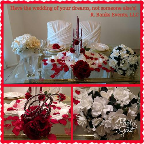 Wedding Place Setting & Bouquets