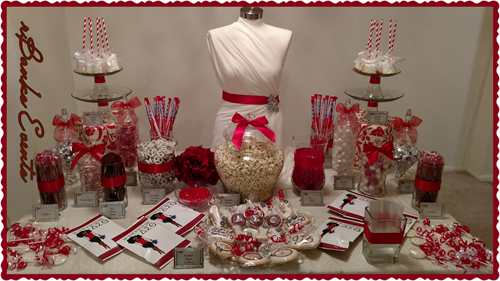Delta Sigma Theta Themed Bridal Shower Buffet Table