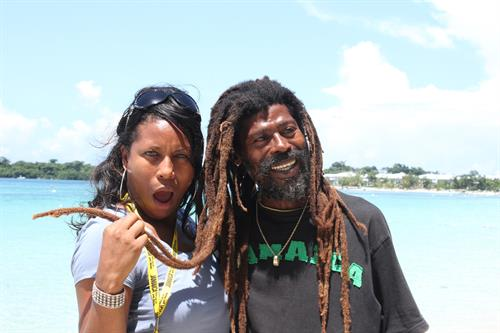 Fun with the locals in Jamaica!