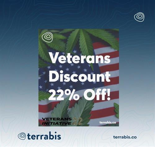 Veterans to receive 22% discount every day at Terrabis