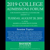 2019 College Admissions Forum