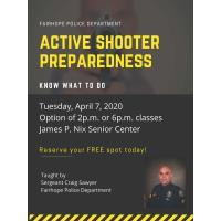 Active Shooter Preparedness Class