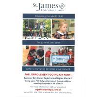 St. James Episcopal Summer Day Camp Registration starts