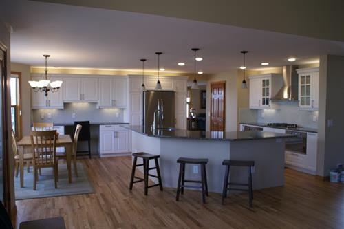 Contemporary kitchen and flooring remodel