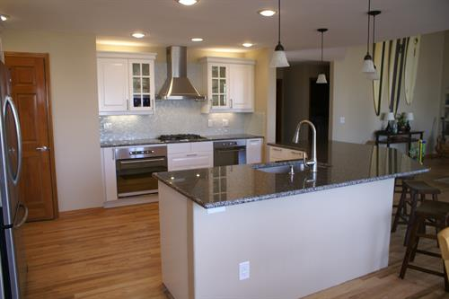 Contemporary kitchen and flooring remodel 2