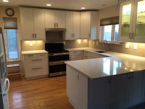 White shaker kitchen remodel