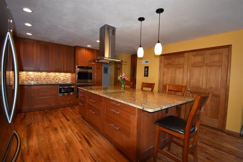 Kitchen and hardwood flooring renovation