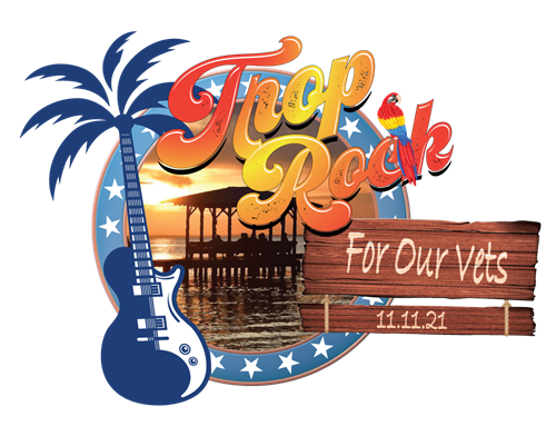 Trop Rock For Our Vets logo for upcoming event at the American Legion Post 199