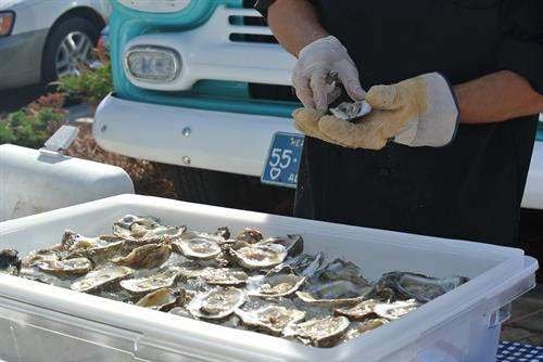 Shucking Oysters Off site