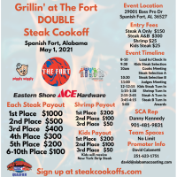 Grillin' at the Fort Set for May 1st at Spanish Fort Town Center