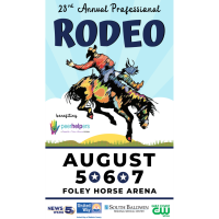 The 23rd  Annual Jennifer Claire Moore Foundation Professional Rodeo to be held August 5th, 6th and