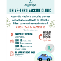 Drive-Thru Vaccine Clinic at EastPointe in Daphne
