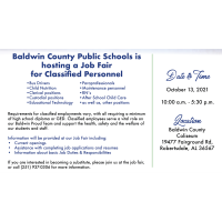 Upcoming Job Fair for BCBE Classified Personnel