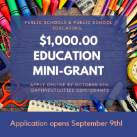 Daphne Utilities Now Accepting Applications for Grants for Teachers Through Oct. 9th