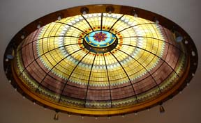 Free-standing stained-glass dome