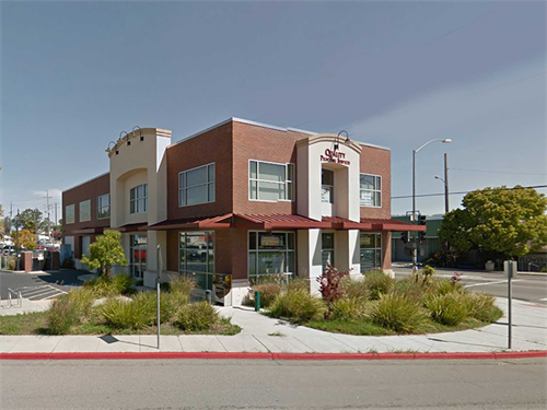 Located on the corner of Petaluma Blvd N. and Sycamore Lane across from the police station.