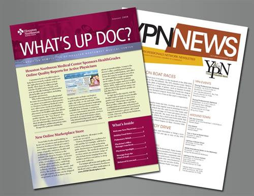 Newsletters with mailing services to help you get the word out about your organization.