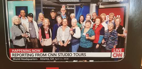 One of our group bus trips at CNN Studios in Atlanta, GA